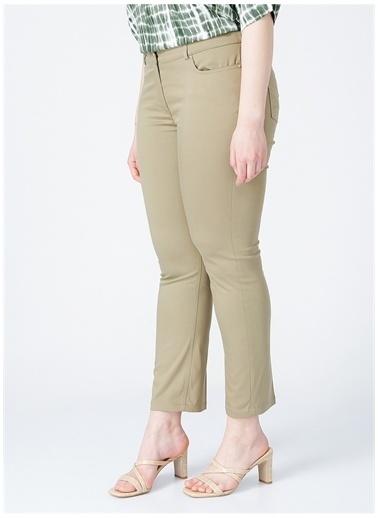 Ekol Ekol Kadın Yüksek Bel Haki Pantolon Haki